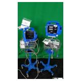 GE DPC400NR Lot of (2) Patient Monitor with SpO2,