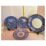Blue Spode Plates