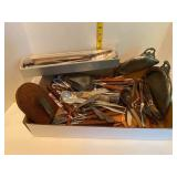 Flatware, Cheese Slicers, Silver plated Crumb Pans