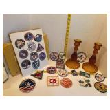 Patches, NASA Print & Amber Candle Sticks