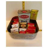 Vintage Spice Cans