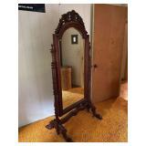 Full Length Mahogany Cheval Mirror