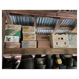 Top Shelf Contents- Canning Jars Etc