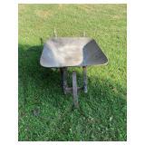 Vintage wheelbarrow W/ Metal Wheel