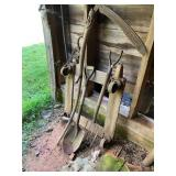 Garden Tools, Vintage Wood Dolly Etc