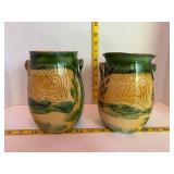 Italicaars Hand Painted Roosters Canisters
