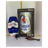 Natural Light Barbeque Grill, Coors Basketball Etc