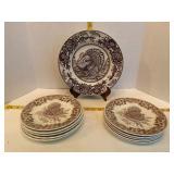 Spode & Churchill Turkey Plates