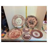 Pink Spode Dinnerware Etc