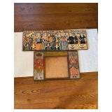 Mid Century Print on Wood Board