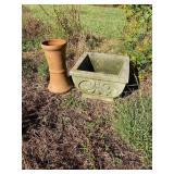 Concrete Planter & Terracotta Base