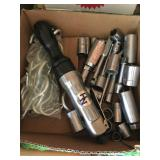 Air Impact wrench and sockets lot