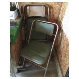 Set of 3 Vintage folding chairs