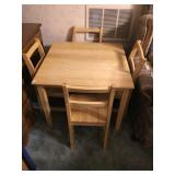 Maple Childs Table with 4 Chairs