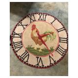 Round Rooster Rug