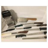 Kitchen Knives and Grater