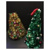 Mini Christmas Tree Lot with Metal Rack & Quilt