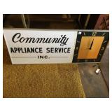 Community Appliance Service Advertising sign/clock