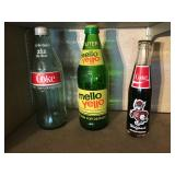 1 liter Mellow Yellow and Coca Cola bottles ETC