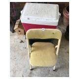 Childs chair, cooler and stool on casters