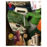 Misc chemicals and shoe shine items