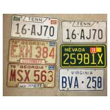 License plate lot