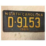 1965 NC license plate