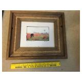 Horse Picture in barn board wood frame