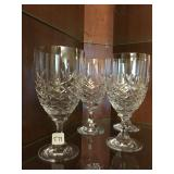 Set of 4 crystal water goblets with hallmark
