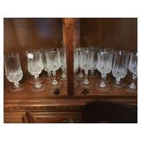 Crystal water pitcher/goblets and wine glasses