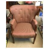 Wing back fabric chair