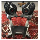 Bow flex adjustable weight set with stand