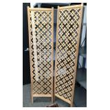 Pair of wooden screen panels