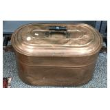 Large copper wash tub with lid