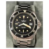 Authentic 1980s Breitling dive watch