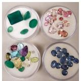 Group of colorful gemstones
