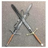 Pair of fantasy Claymore swords