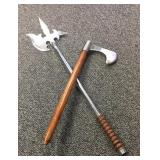 Pair of fantasy battle axes