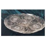Large pressed glass platter