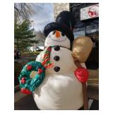 Snowman holiday inflatable