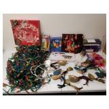 Group of Christmas decorative items