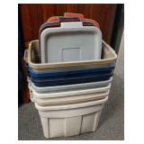 Rubbermaid totes with lids