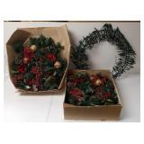 Group of door wreaths with lights