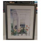 """Victorian House"" print in frame"