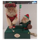 """North Pole Country Club"" Santa plays golf"