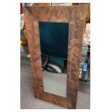 Half size rustic copper mirror