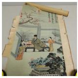 Oriental needlepoint scroll