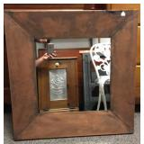 Gorgeous copper tone framed modern mirror