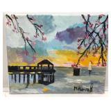 """Alexandria Gazebo on Potomac"" by local artist"