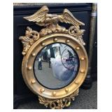 Federal style beveled mirror with eagle finial